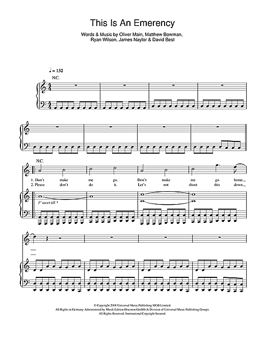 This Is An Emergency Sheet Music