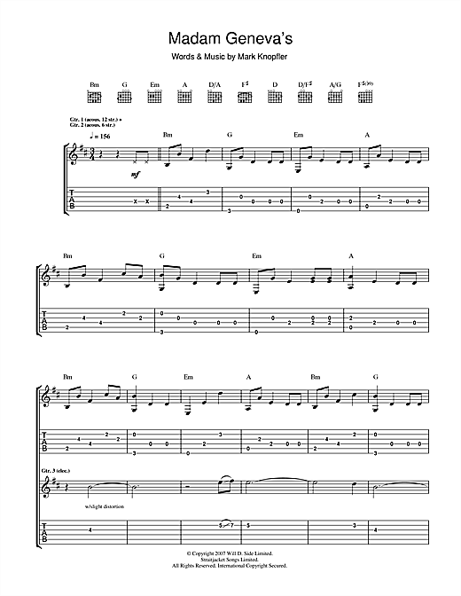 Madame Geneva's Sheet Music