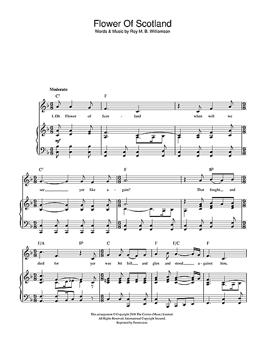 Guitar national anthem guitar tabs : Flower Of Scotland (Unofficial Scottish National Anthem) sheet ...