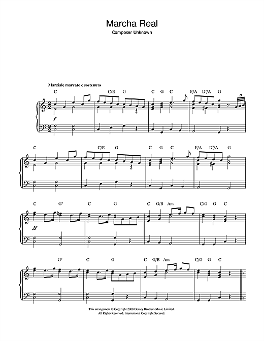 Marcha Real (Spanish National Anthem) Sheet Music