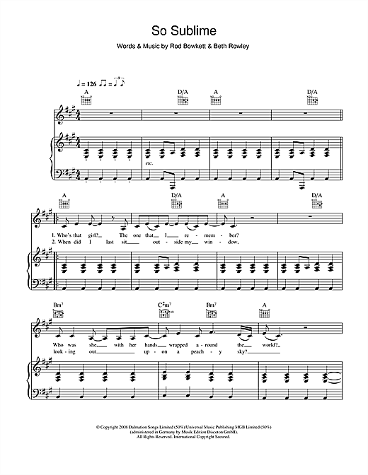 So Sublime Sheet Music