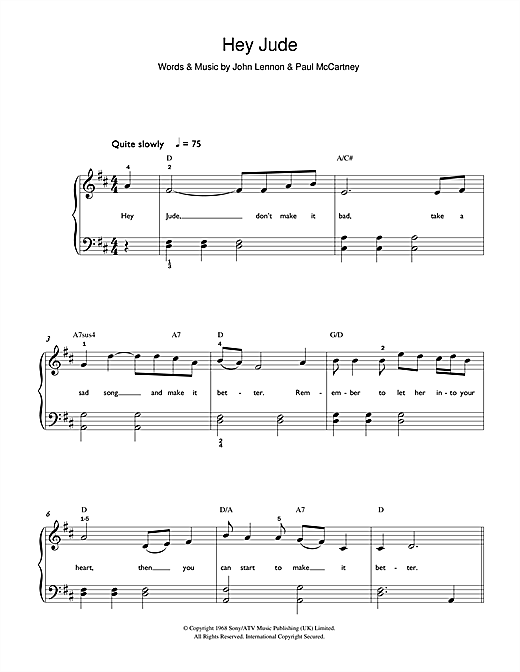 Hey Jude Sheet Music