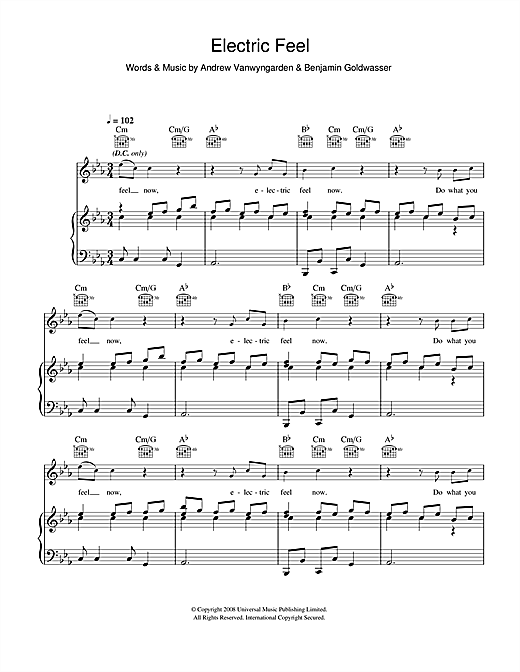Electric Feel Sheet Music