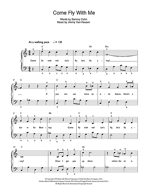 Come Fly With Me Sheet Music