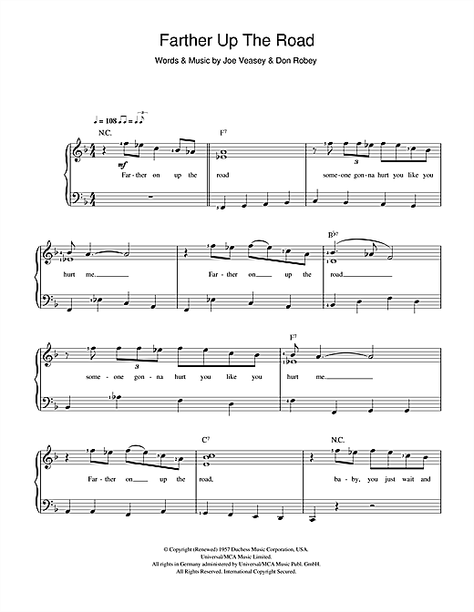 Farther Up The Road Sheet Music