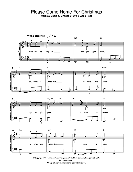Please Come Home For Christmas Sheet Music