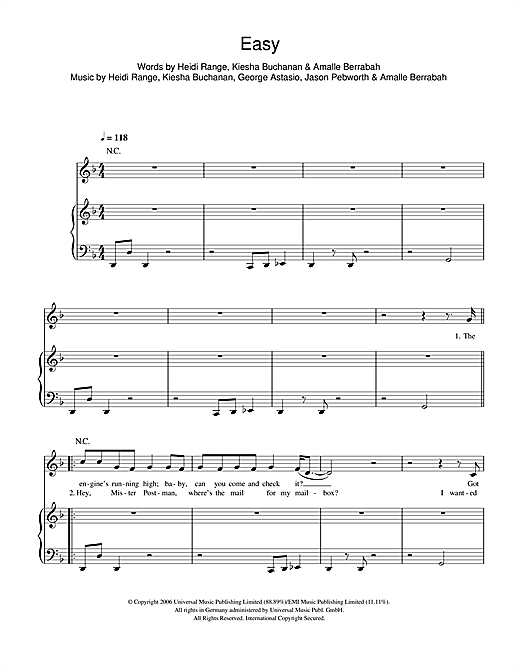 Easy Sheet Music