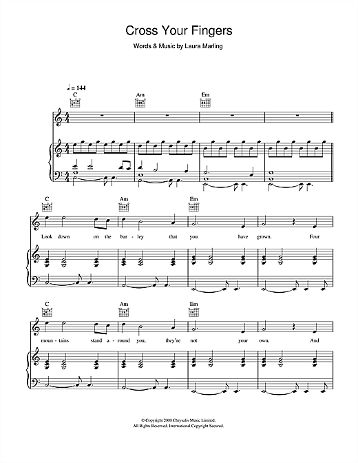 Cross Your Fingers Sheet Music