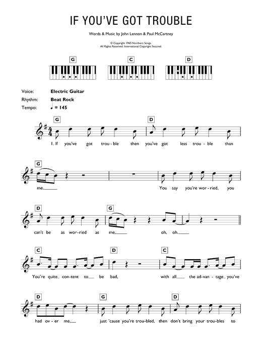 If You've Got Trouble Sheet Music