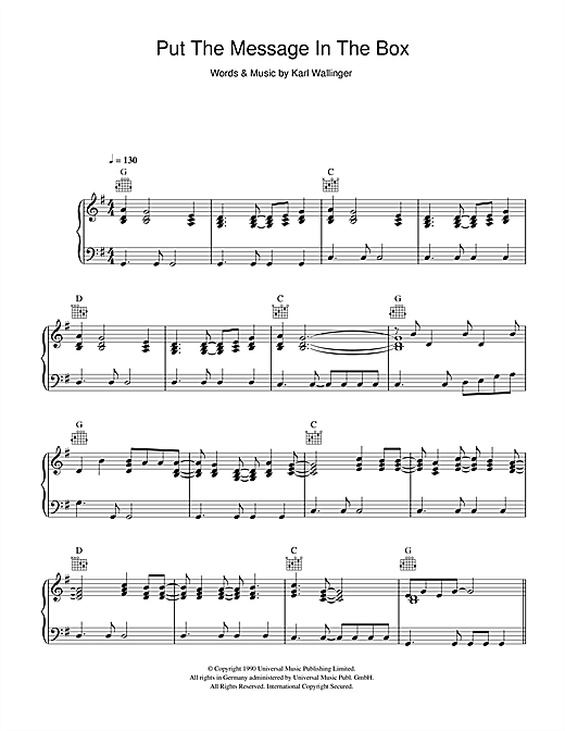 Put The Message In The Box Sheet Music