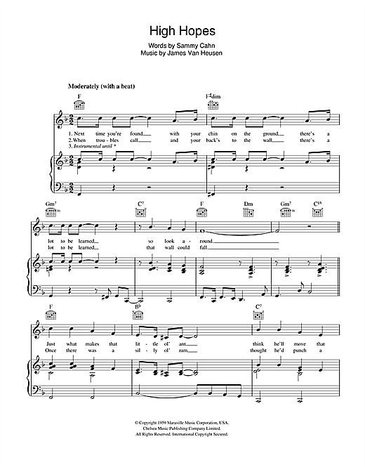 High Hopes Sheet Music