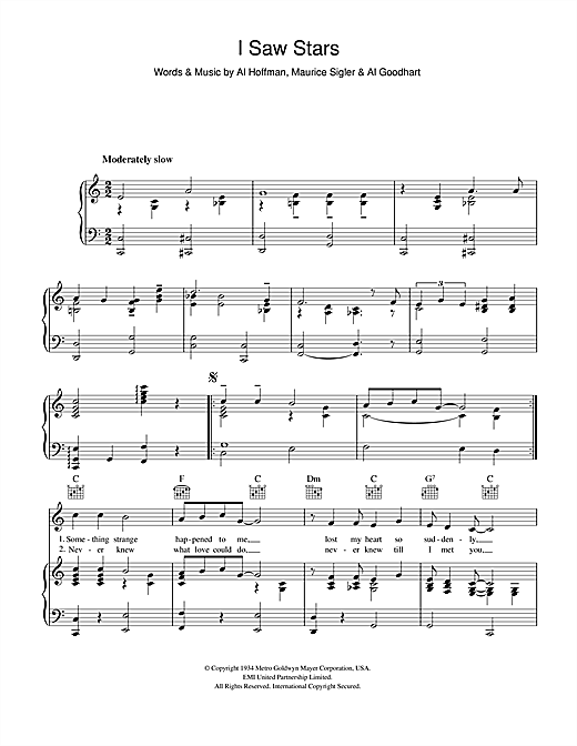 I Saw Stars Sheet Music