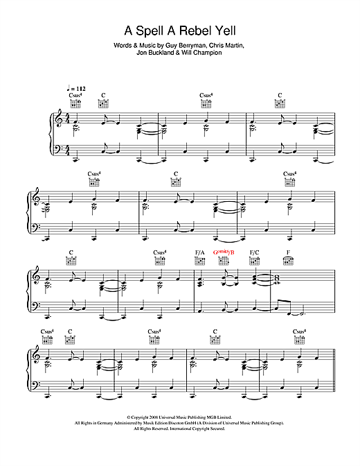 A Spell A Rebel Yell Sheet Music