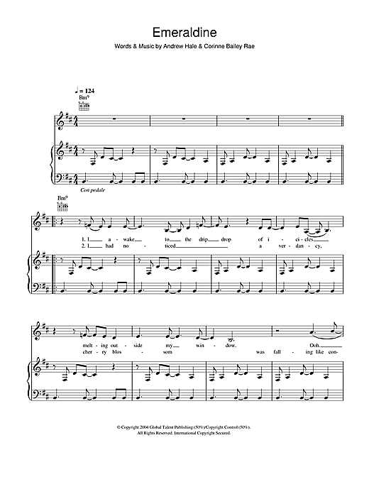 Emeraldine Sheet Music