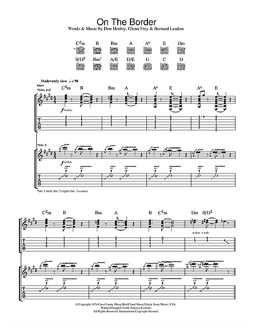 On The Border Sheet Music