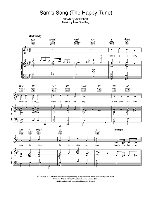 Sam's Song (The Happy Tune) Sheet Music