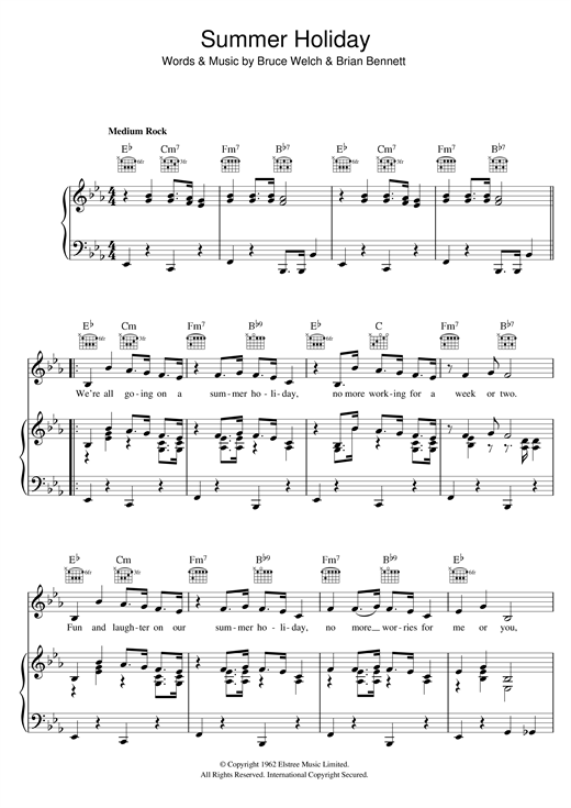 Summer Holiday Sheet Music