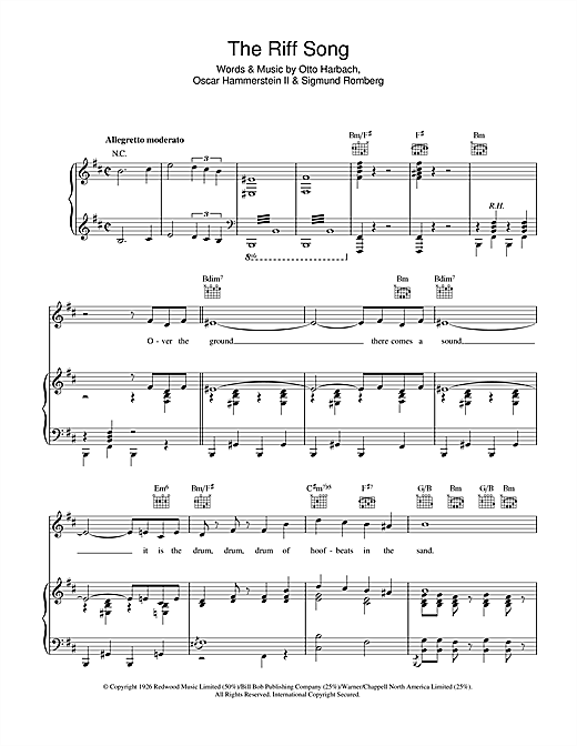 The Riff Song Sheet Music