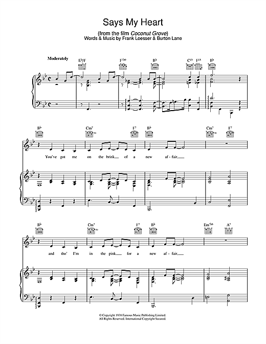 Says My Heart Sheet Music