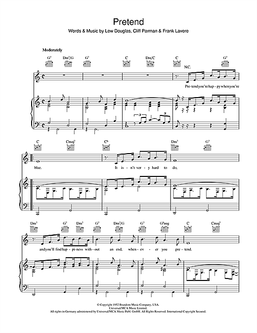 Pretend Sheet Music