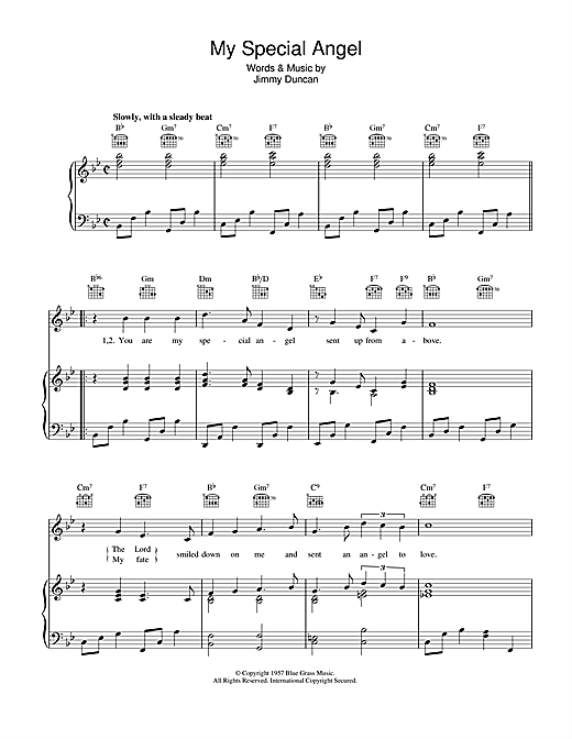 My Special Angel Sheet Music