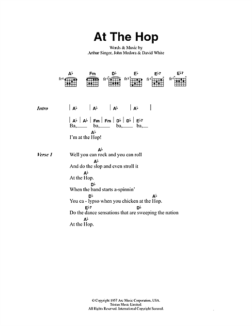 At The Hop Sheet Music