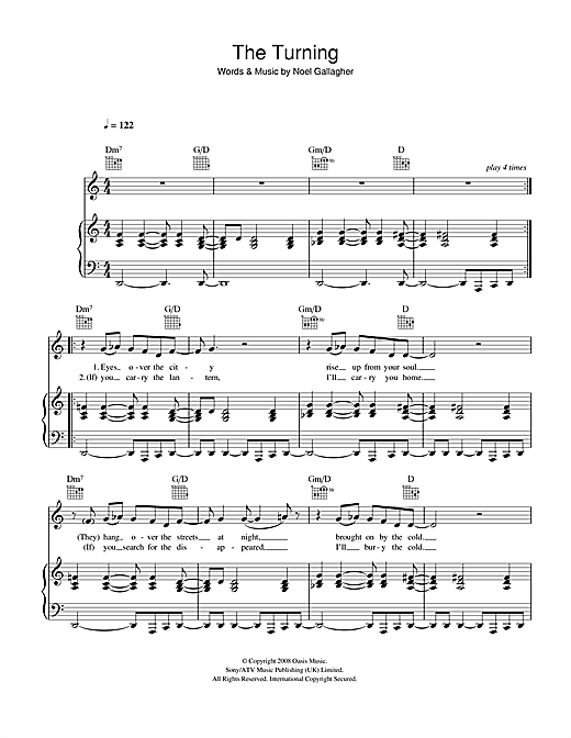 The Turning Sheet Music