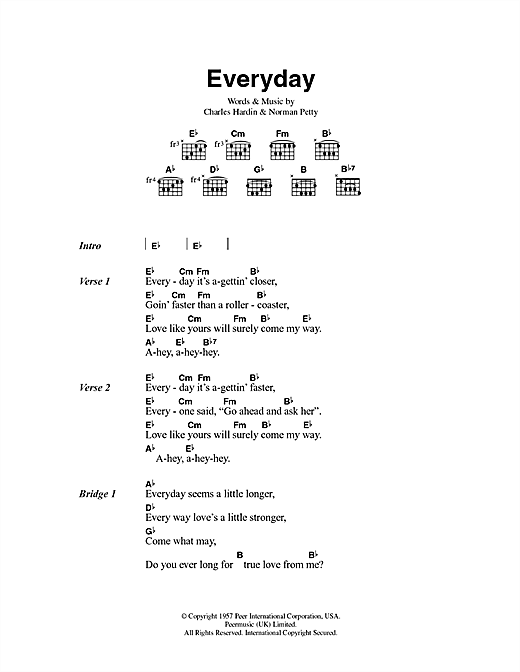 Everyday (Guitar Chords/Lyrics)