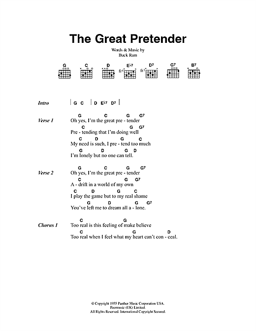 The Great Pretender Sheet Music