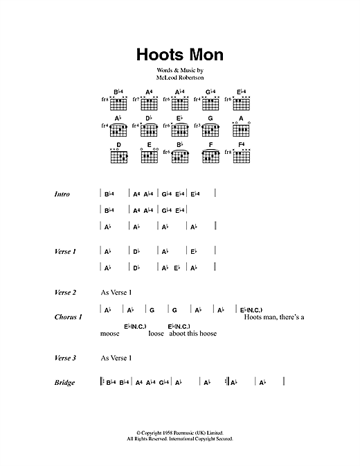 Hoots Mon Sheet Music