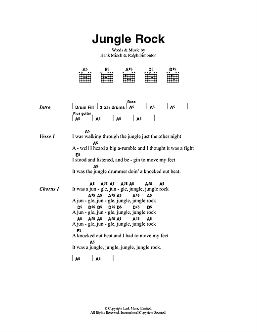 Jungle Rock Sheet Music
