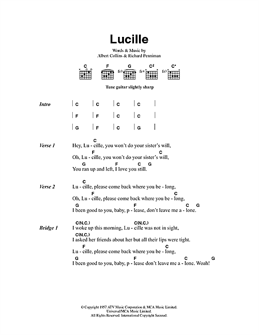 Lucille Sheet Music