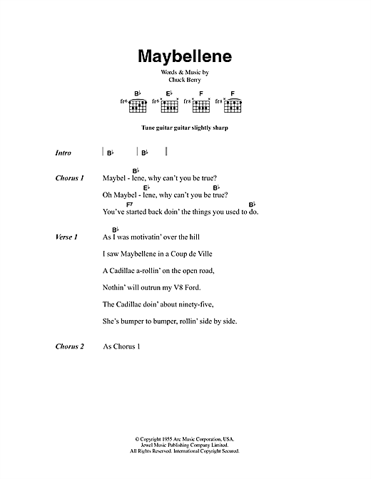 Maybellene Sheet Music