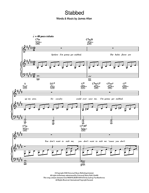 Stabbed Sheet Music