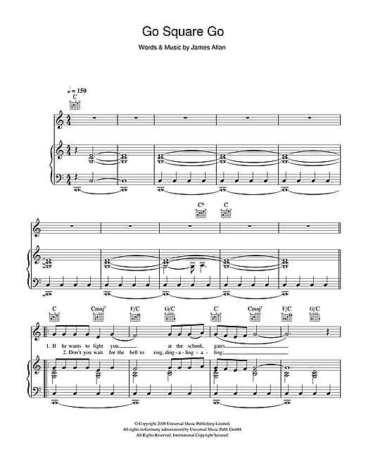 Go Square Go Sheet Music