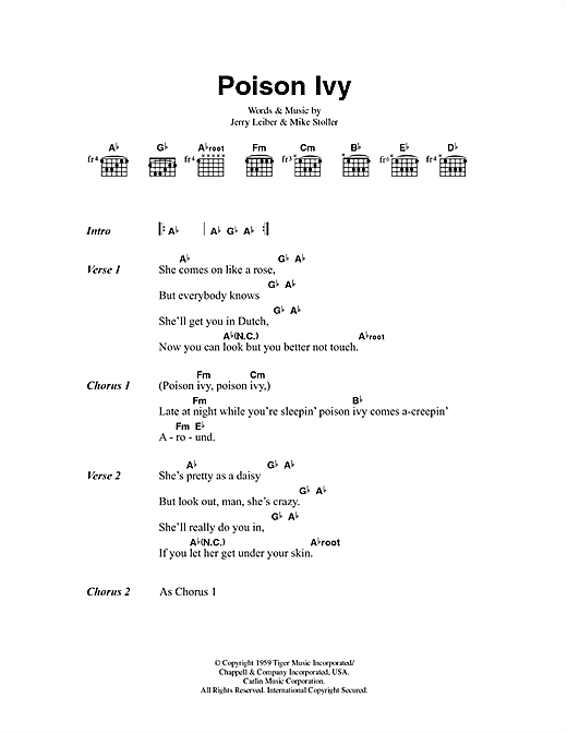 Poison Ivy Sheet Music