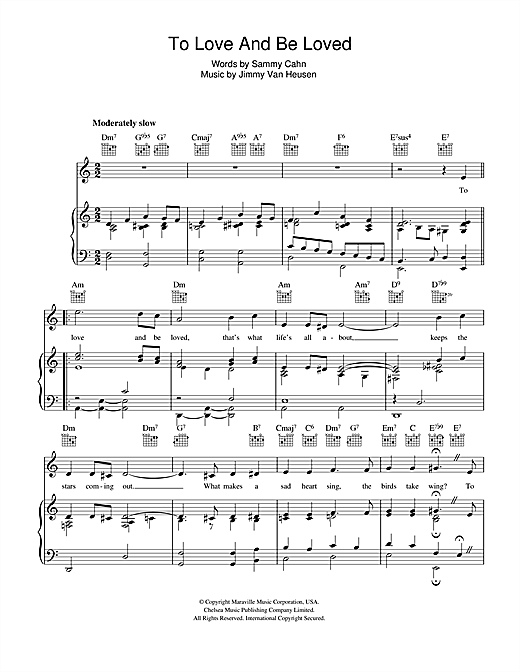 To Love And Be Loved Sheet Music