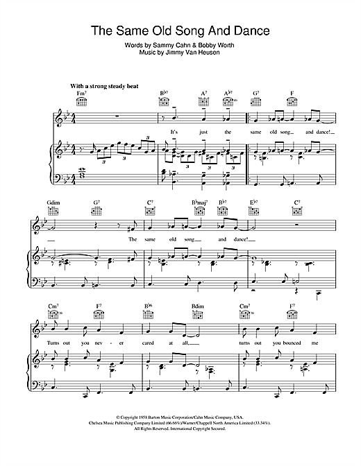 The Same Old Song And Dance Sheet Music