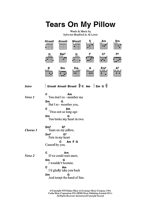 Tears On My Pillow Sheet Music