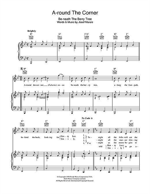 A-round The Corner (Be-neath The Berry Tree) Sheet Music