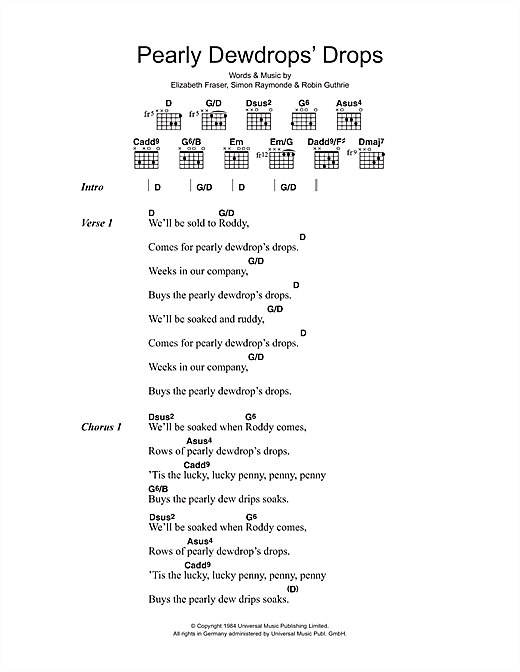 Pearly Dewdrops' Drops Sheet Music