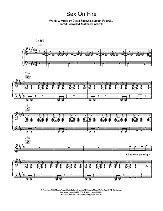Sex On Fire Sheet Music