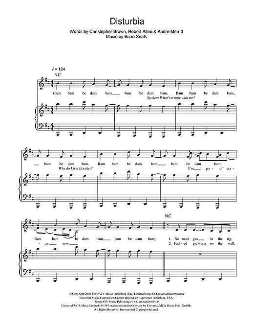 Disturbia Sheet Music