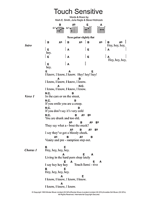 Touch Sensitive (Lyrics & Chords)