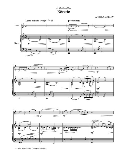 Rêverie (score and parts) Sheet Music