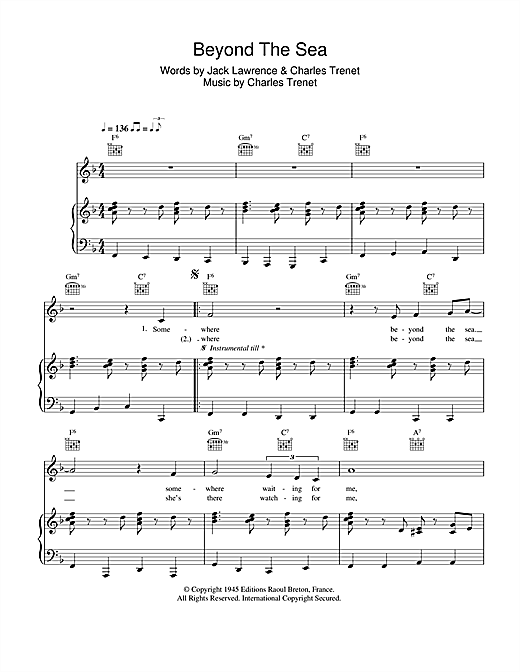 Beyond The Sea Sheet Music