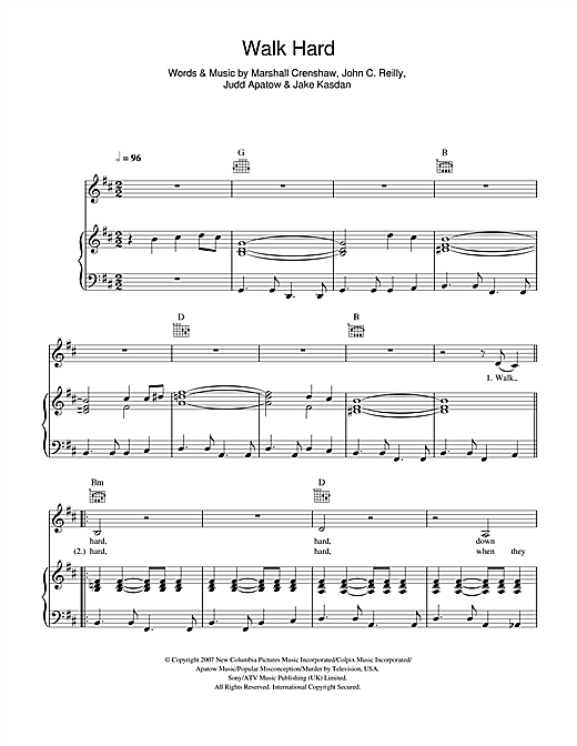 Walk Hard Sheet Music