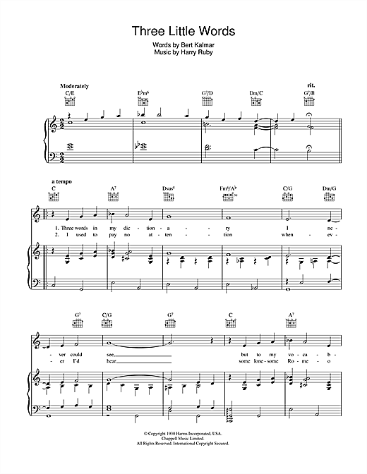 Three Little Words Sheet Music