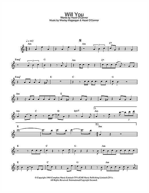 Will You Sheet Music