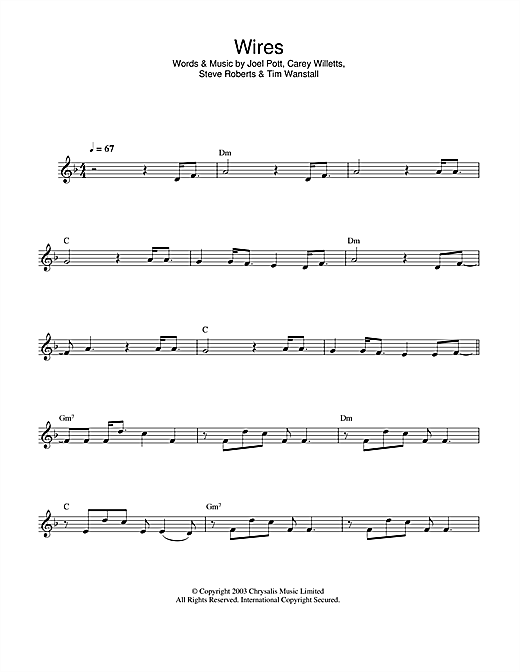 Wires Sheet Music